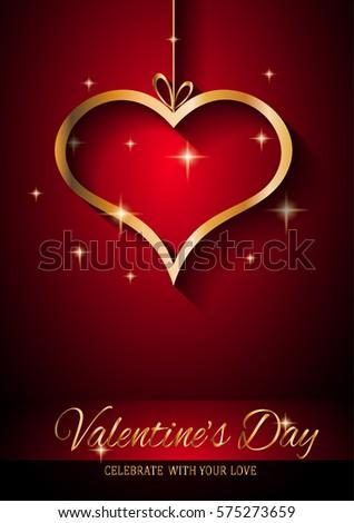 valentines day restaurant menu template background stock