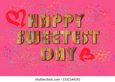 Valentines day and Sweetest day, love concept  on pink background