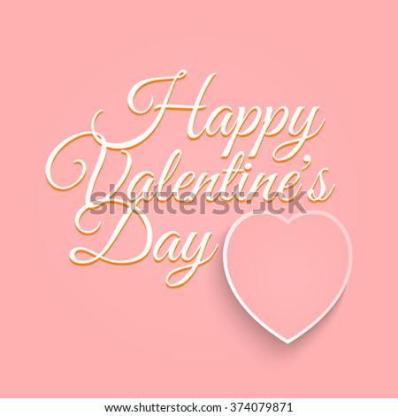 Valentines Day Vintage Lettering Background Happy Stock Illustration