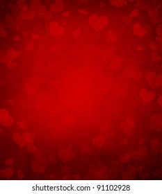 Valentine's day or Wedding background with hearts