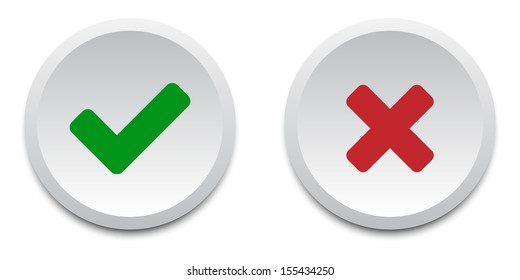 Validation buttons. Vector available.