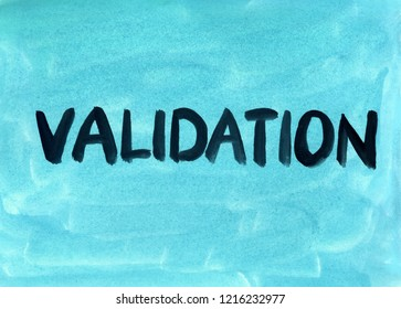 validation concept word background gouache paint