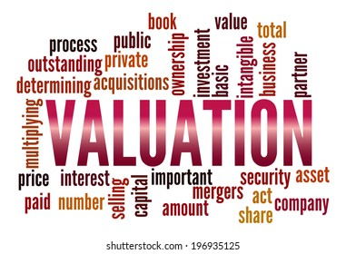 Valuation in word collage