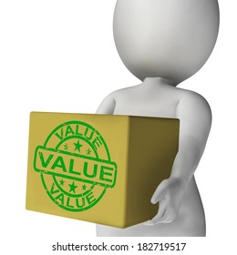 Value Box Meaning Quality And Worth Of Goods