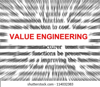 value engineering radial with focus on value engineering