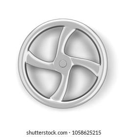 Valve wheel. 3d illustration isolated on white background