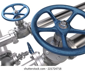 Valves. Industrial Background