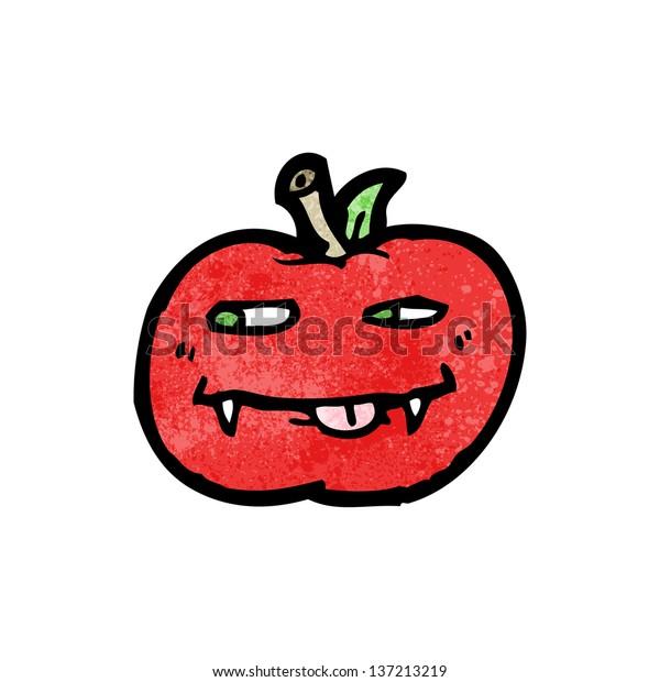 Vampire Apple Cartoon Stock Illustration 137213219