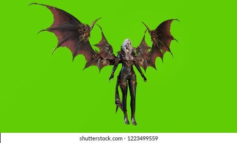 Vampire Beautiful Woman 3d render