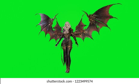 Vampire Beautiful Woman 3d render