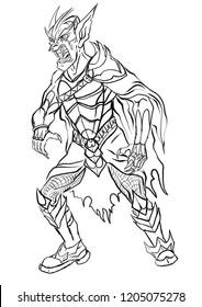 Vampire lord illustration