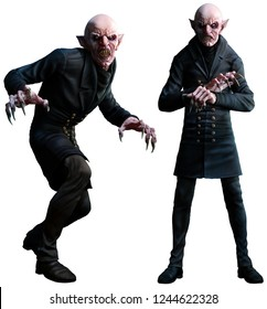 Vampires 3D illustration