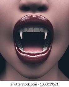 Vampire's woman,3d illustration