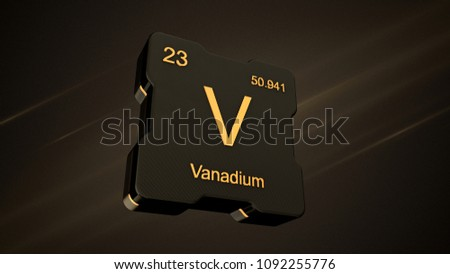 Royalty Free Stock Illustration Of Vanadium Element Symbol Number 23