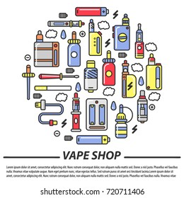 Vape shop and electronic cigarettes  poster