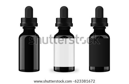 vaping juice bottle mockup set stock illustration 623381672