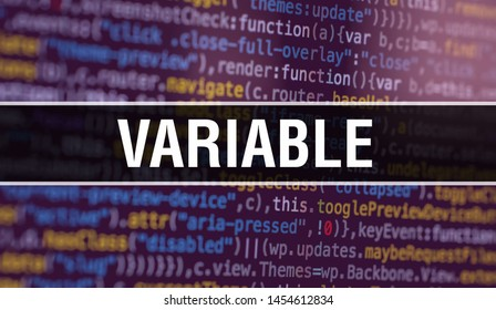 Variable with Abstract Technology Binary code Background.Digital binary data and Secure Data Concept. Software