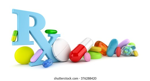 Variety of colorful prescription drugs