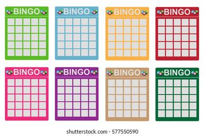 Various colored bingo tickets