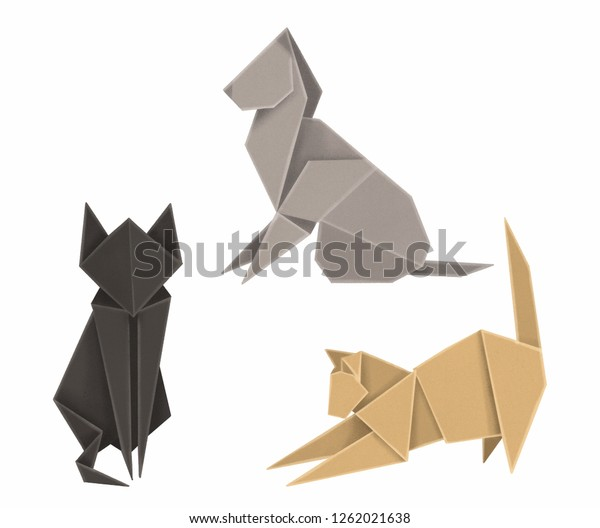 Easy origami Cat | designed and folded by myself from one un… | Flickr | 528x600