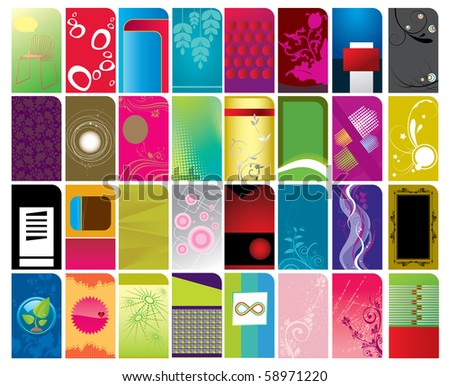 Royalty Free Stock Illustration Of Various Type Business Card
