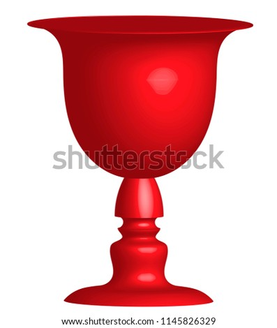 Vase Two Face Profile View Optical Stock Illustration 1145826329