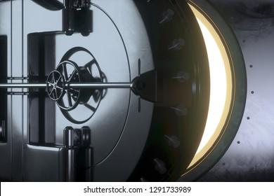 Vault opens (3D Rendering)