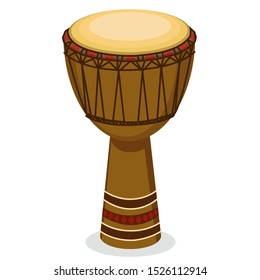 vector djembe isolated on white background