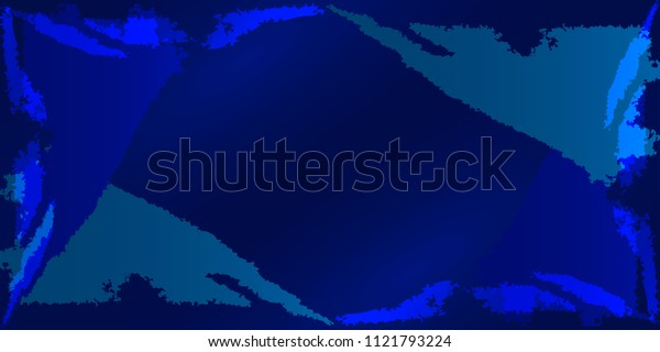 Vector frame with imitation of the dark ocean texture and framing the background with ice blocks. For registration of postcards.
