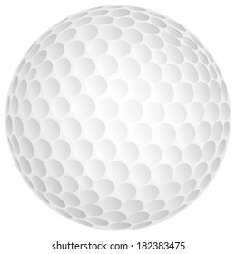 Vector golf ball.