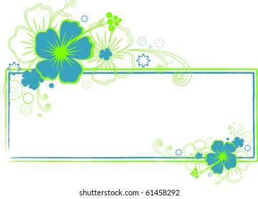Vector Hibiscus / Tropical Banner