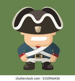 Vector Icon cartoon character north soldier of American Civil War. Illustration cartoon soldier in blue uniform