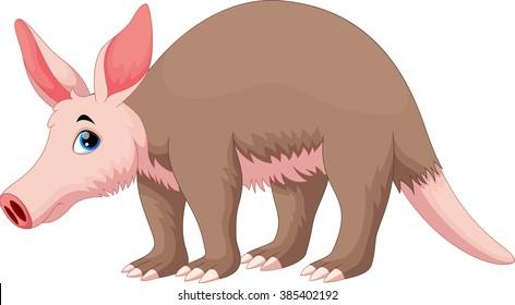 Vector illustration of Aardvark cartoon