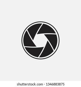 Vector illustration of camera shutter, isolated on white background