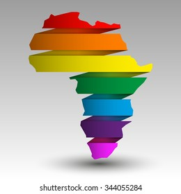 vector Image LGBT (lesbian, gay, bisexual, and transgender) Flag African continent. International Gay.