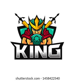 vector king spartan logo on white color background