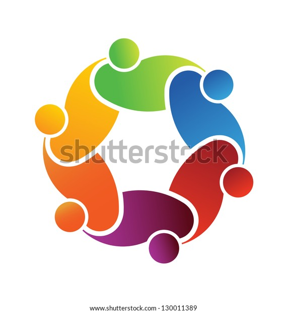 Vector Logo Social Friends. Group of People