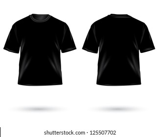 Black Tshirt Design Template Front Back Stock Vector Royalty Free