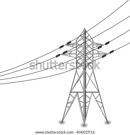 Royalty Free Stock Illustration Of Vector Silhouette Power Lines