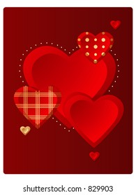 Vector valentine hearts!