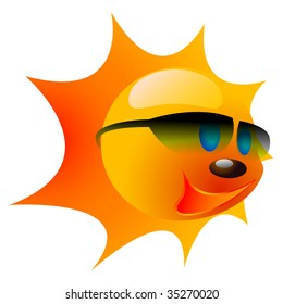 vectorial image of a summer sun