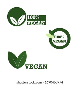 Vegan Green  logo and stickers