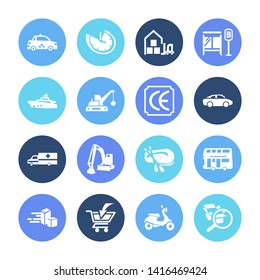 Vehicle icon set and rubber boat with taxi, ce marking and express delivery. Sailboat related vehicle icon  for web UI logo design.