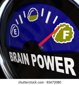 A vehicle type gauge measures your amount of creativity, intelligence, agility, and mental capacity for coming up with new ideas and attaining success