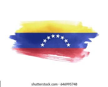 Venezuela flag grunge painted background