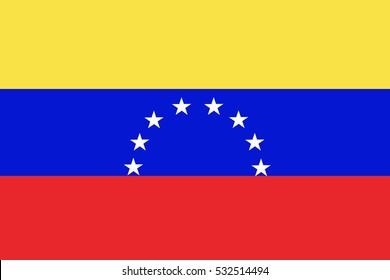 Venezuela  flag ,  Venezuela national flag illustration symbol.