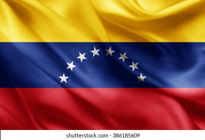 Venezuela flag of silk