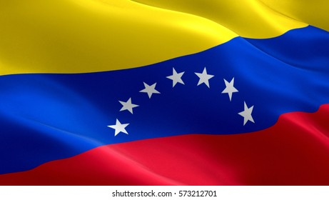 Venezuela flag. Waving colorful Venezuela flag