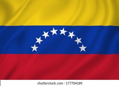 Venezuela national flag background texture.