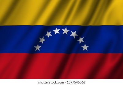 Venezuela waving flag illustration. Countries of North and Central America. Perfect for background and texture usage.